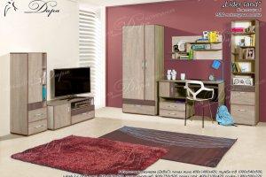 Набор мебели для молодежной комнаты  Лидер Ленд-1 - Мебельная фабрика «Дара»