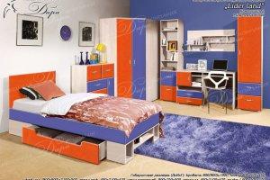 Набор мебели для молодежной комнаты Лидер Ленд-2 - Мебельная фабрика «Дара»