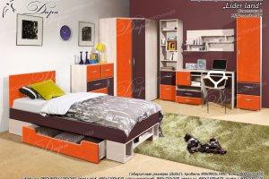 Набор мебели для молодежной комнаты  Лидер Ленд - Мебельная фабрика «Дара»