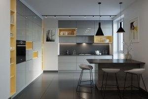 Кухня глянцевая Linea - Мебельная фабрика «Энгельсская (Эмфа)»