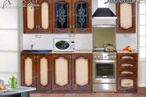 Кухня прямая Магнолия-1 - Мебельная фабрика «Дара»