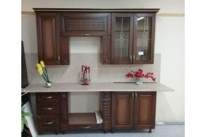 Маленькая кухня Прага орех - Мебельная фабрика «Шанс»