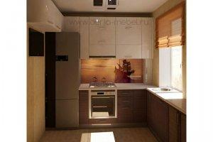 Маленькая прямая кухня - Мебельная фабрика «Дэрия»