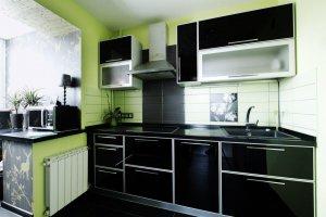 Маленькая прямая кухня - Мебельная фабрика «Lakma»