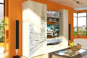 Маленькая стенка Лондон - Мебельная фабрика «СМ-Мебель»