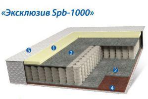 Матрац Эксклюзив Spb-1000 - Мебельная фабрика «Коралл»