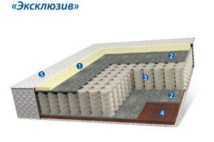 Матрац на независимых пружинах- Эксклюзив - Мебельная фабрика «Коралл»