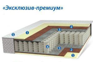 Матрац на независимых пружинах- Эксклюзив Премиум - Мебельная фабрика «Коралл»
