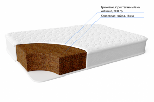 Матрас кокосовый беспружинный Титан - Мебельная фабрика «Фабрика Сна»