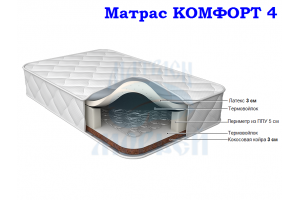 Матрас Морфей Комфорт 4 мягкий/жесткий - Мебельная фабрика «Морфей»