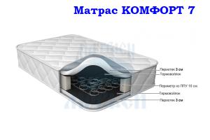 Матрас Морфей Комфорт 7 средней жесткости - Мебельная фабрика «Морфей»