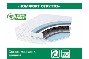 Матрас пружинный Комфорт Струтто - Мебельная фабрика «Сибирь»