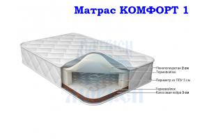 Матрас жесткий пружинный Морфей Комфорт 1 - Мебельная фабрика «Морфей»