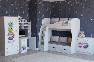 Мебель детская Совята для двух детей - Мебельная фабрика «Династия»