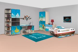 Мебель для детской 9 mcqueen  - Мебельная фабрика «КАРоБАС»