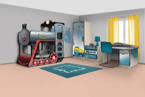 Мебель для детской Паровоз - Мебельная фабрика «КАРоБАС»