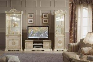 Мебель для гостиной Грета слоновая кость - Мебельная фабрика «Меридиан»