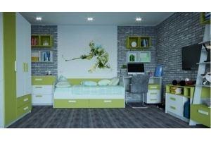 Мебель для молодежной Сканди зеленый - Мебельная фабрика «МФМ (Магнитогорская мебельная фабрика)»