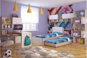 Мебель для подростка 3 с выкатным спальным местом - Мебельная фабрика «РИННЭР»