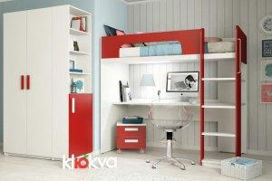 Мебель для подростков Junior Красный чили - Мебельная фабрика «Клюква»