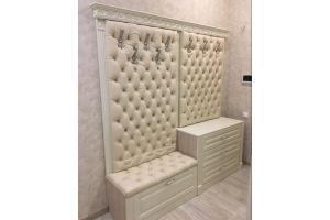 Мебель для прихожей обитая каретной стяжкой - Мебельная фабрика «Симбирский шкаф»