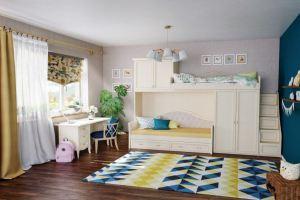 Мебель Флоренция в  оттенке леванте для детской комнаты  - Мебельная фабрика «Лазурит»