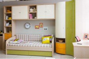 Мебель подростковая с радиусным шкафом - Мебельная фабрика «Астрон»