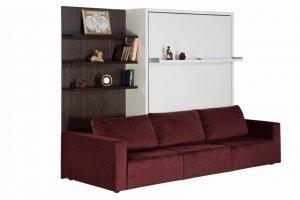 Мебель трансформер полка-диван-кровать Смарт 1 - Мебельная фабрика «Новый век»