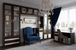 Мебель в кабинет Библиотека Гарун К 1 - Мебельная фабрика «Уют сервис»