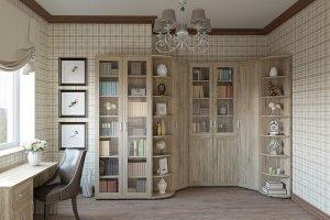 Мебель в кабинет Библиотека Гарун К 6 - Мебельная фабрика «Уют сервис»