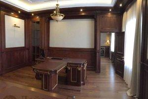 Мебель в кабинет из дерева 1 - Мебельная фабрика «Лайс Wood»