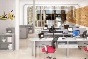 Мебель в офис серая ЛДСП - Мебельная фабрика «Универсал Мебель»
