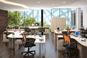 Мебель в офис светлая ЛДСП - Мебельная фабрика «Универсал Мебель»