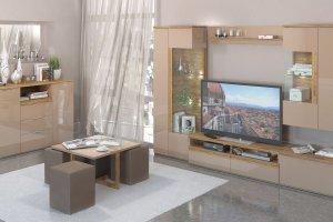 Гостиная Тоскано дуб/капучино - Мебельная фабрика «ИнтерДизайн»
