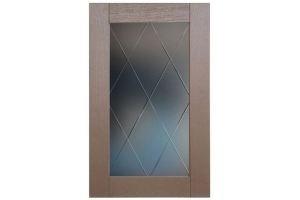 Мебельный фасад Скалли Мокко со стеклом - Оптовый поставщик комплектующих «Stival»