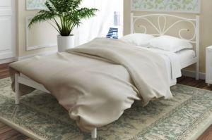 Металлическая кровать односпальная Bourbon - Мебельная фабрика «Alitte»
