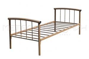 Металлическая односпальная кровать - Мебельная фабрика «Металлодизайн»