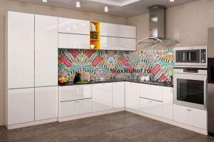 Модная Кухня Белый глянец - Мебельная фабрика «MaxiКухни»
