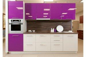 Модная кухня с глянцевыми фасадами Глосс виолет - Мебельная фабрика «Хомма»