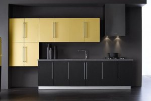 модный кухонный гарнитур графит - Мебельная фабрика «Мебель Мастер»