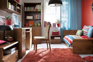 Модульная детская Индиана (Дуб Саттер) - Импортёр мебели «БРВ Black Red White»