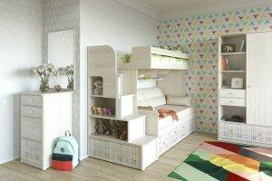 Модульная детская Кембридж для двоих - Мебельная фабрика «Сканд-Мебель»