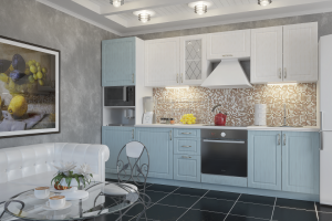 Модульная голубая кухня Парма - Мебельная фабрика «ЛЕКО»