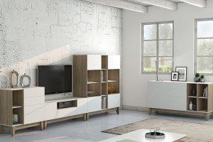 Модульная Гостиная Берген светлая - Мебельная фабрика «Артис»