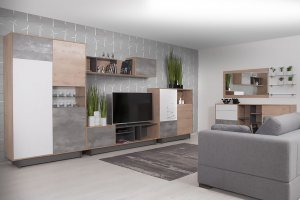 Модульная Гостиная Фиера в стиле Лофт - Мебельная фабрика «Мирлачева»