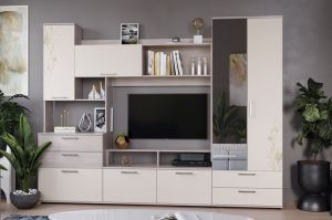 Модульная гостиная Марта с рисунком - Мебельная фабрика «ТриЯ»