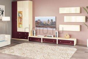 Модульная гостиная  Силуэт - Мебельная фабрика «Дэфо»