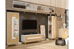 Модульная гостиная Сканди 1 - Мебельная фабрика «Рось»