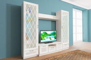 Модульная гостиная витрина Александрия - Мебельная фабрика «Велес»