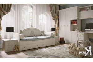 Модульная кровать с мягкой спинкой Адель - Мебельная фабрика «ТриЯ»